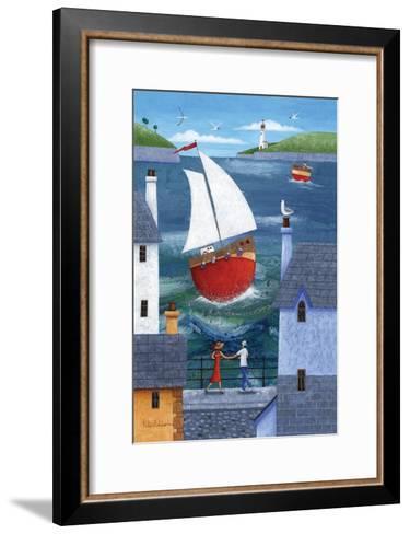 A Seaside Town-Peter Adderley-Framed Art Print