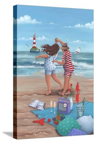 Beach Dance-Peter Adderley-Stretched Canvas Print