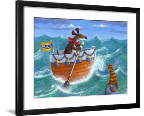 To the Rescue (Variant 1)-Peter Adderley-Framed Art Print