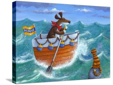 To the Rescue (Variant 1)-Peter Adderley-Stretched Canvas Print