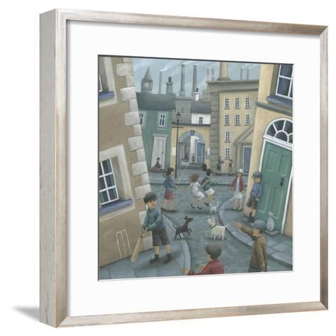 Skipping by the Green Door-Peter Adderley-Framed Art Print
