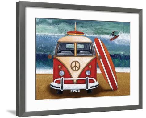 Volkswagon Surfboard-Peter Adderley-Framed Art Print