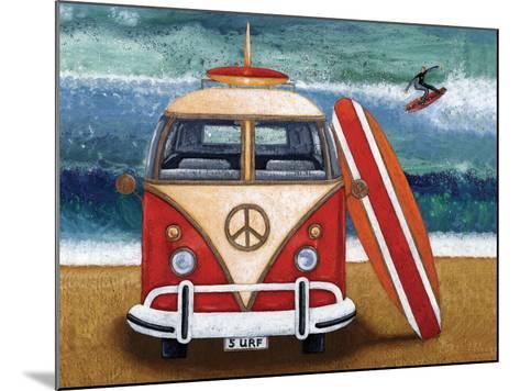 Volkswagon Surfboard-Peter Adderley-Mounted Art Print