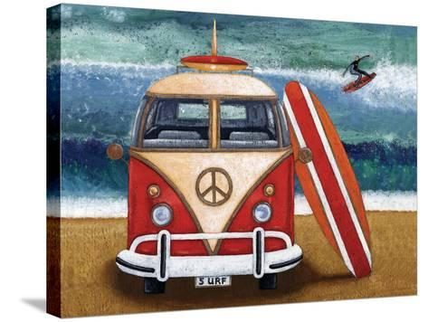 Volkswagon Surfboard-Peter Adderley-Stretched Canvas Print