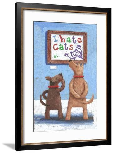 I Hate Cats (Variant 1)-Peter Adderley-Framed Art Print