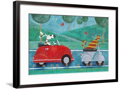 On the Road with Duke and Sweetpea-Peter Adderley-Framed Art Print