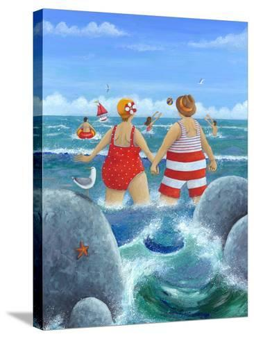 I Do Like to Be Beside the Seaside-Peter Adderley-Stretched Canvas Print