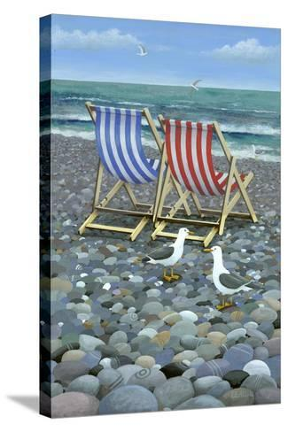 Deck Chairs-Peter Adderley-Stretched Canvas Print
