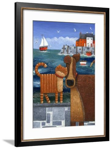 Pets by the Sea-Peter Adderley-Framed Art Print