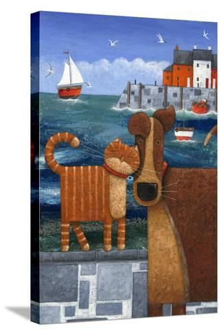 Pets by the Sea-Peter Adderley-Stretched Canvas Print