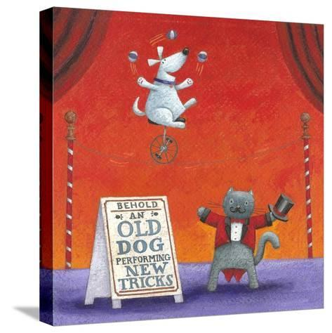 Old Dog with New Tricks-Peter Adderley-Stretched Canvas Print