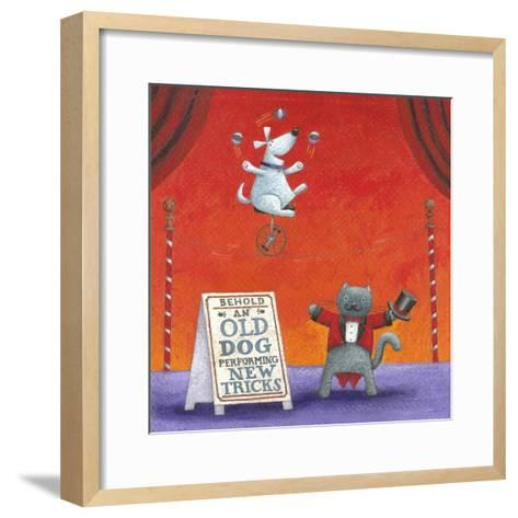 Old Dog with New Tricks-Peter Adderley-Framed Art Print
