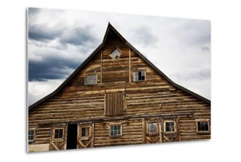 Traditional Barn On A Wyoming Ranch, USA, North America- Shattil & Rozinski-Metal Print