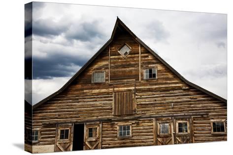 Traditional Barn On A Wyoming Ranch, USA, North America- Shattil & Rozinski-Stretched Canvas Print