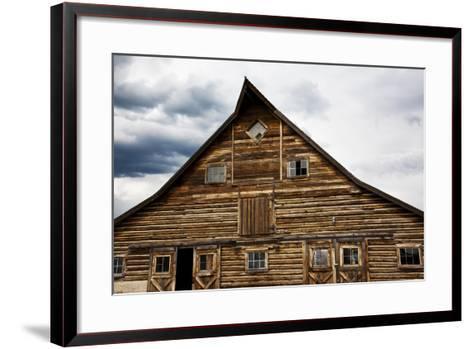 Traditional Barn On A Wyoming Ranch, USA, North America- Shattil & Rozinski-Framed Art Print