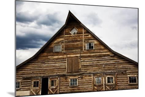 Traditional Barn On A Wyoming Ranch, USA, North America- Shattil & Rozinski-Mounted Photographic Print