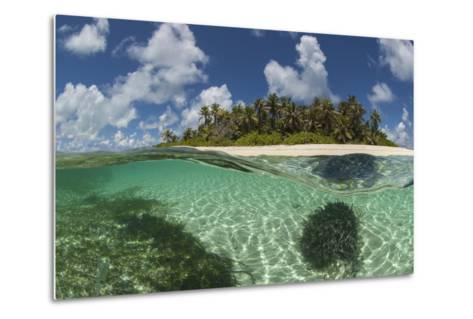 View Of Byoutier. A Very Small Island In The Seychelles With A Pristine Beach-Willem Kolvoort-Metal Print