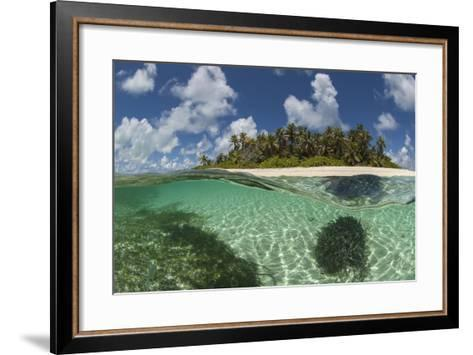 View Of Byoutier. A Very Small Island In The Seychelles With A Pristine Beach-Willem Kolvoort-Framed Art Print