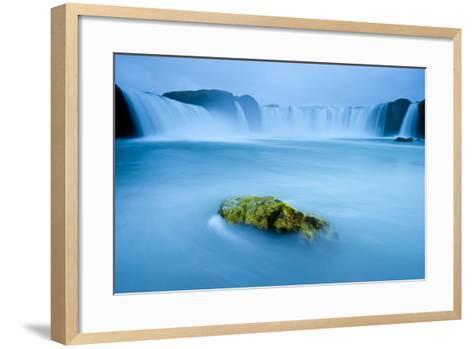 Long Exposure Of Godafoss Waterfall, Iceland-Inaki Relanzon-Framed Art Print