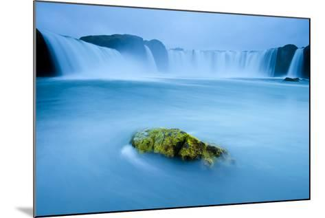Long Exposure Of Godafoss Waterfall, Iceland-Inaki Relanzon-Mounted Photographic Print