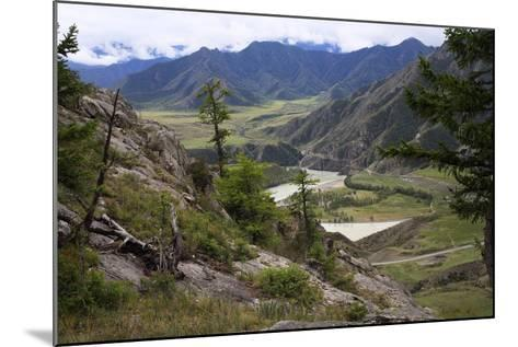 Altai Steppe Mountains At The Confluence Of Rivers Katun And Chuya, South Siberia, Russia-Konstantin Mikhailov-Mounted Photographic Print