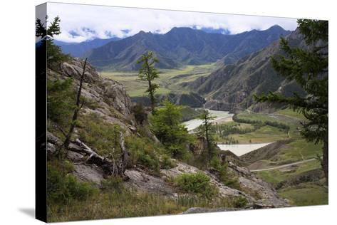 Altai Steppe Mountains At The Confluence Of Rivers Katun And Chuya, South Siberia, Russia-Konstantin Mikhailov-Stretched Canvas Print