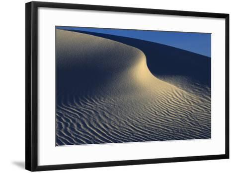 Irregular Ripples On Gypsum Sand Dunes Created By High Winds-Jouan Rius-Framed Art Print
