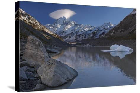 Mount Cook - Aoraki (Height 3754M) With Cap Cloud Forming-Andy Trowbridge-Stretched Canvas Print