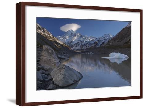 Mount Cook - Aoraki (Height 3754M) With Cap Cloud Forming-Andy Trowbridge-Framed Art Print