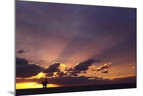 Sunrise At The Eider Platform, 60 Miles Northeast Of Shetland, North Sea-Philip Stephen-Mounted Photographic Print