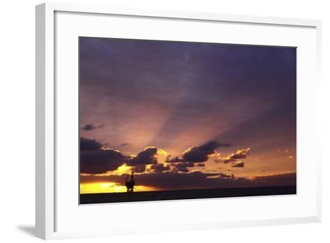 Sunrise At The Eider Platform, 60 Miles Northeast Of Shetland, North Sea-Philip Stephen-Framed Art Print