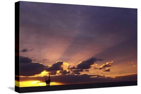Sunrise At The Eider Platform, 60 Miles Northeast Of Shetland, North Sea-Philip Stephen-Stretched Canvas Print