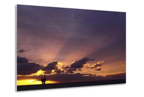 Sunrise At The Eider Platform, 60 Miles Northeast Of Shetland, North Sea-Philip Stephen-Metal Print