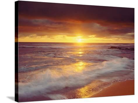 Sunset Cliffs Beach on the Pacific Ocean at Sunset, San Diego, California, USA-Christopher Talbot Frank-Stretched Canvas Print
