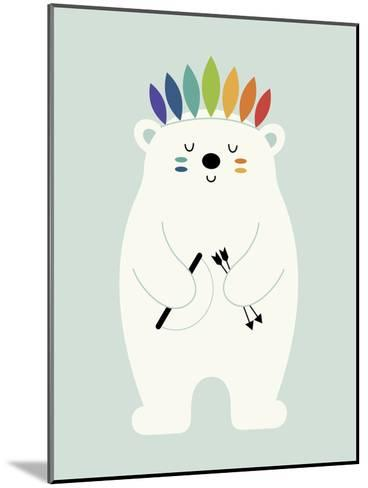Be Brave Polar-Andy Westface-Mounted Giclee Print