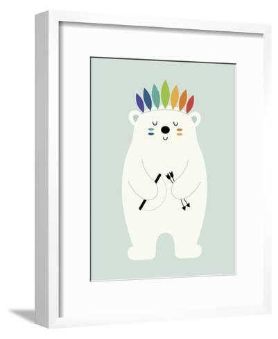 Be Brave Polar-Andy Westface-Framed Art Print