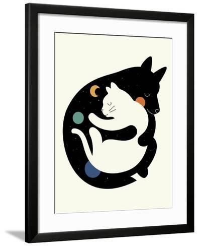 More Hugs Less Fights-Andy Westface-Framed Art Print