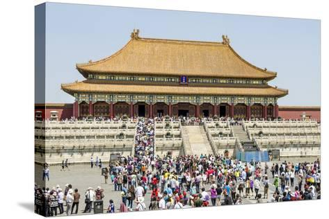 Second Courtyard and Hall of Supreme Harmony Forbidden City, Beijing China-Michael DeFreitas-Stretched Canvas Print