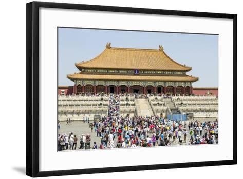 Second Courtyard and Hall of Supreme Harmony Forbidden City, Beijing China-Michael DeFreitas-Framed Art Print