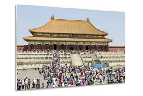 Second Courtyard and Hall of Supreme Harmony Forbidden City, Beijing China-Michael DeFreitas-Metal Print