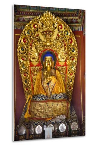 Blue Buddha Hands, Peace Altar Offerings Yonghe Gong Buddhist Lama Temple-William Perry-Metal Print