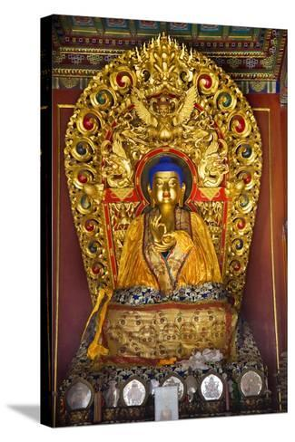Blue Buddha Hands, Peace Altar Offerings Yonghe Gong Buddhist Lama Temple-William Perry-Stretched Canvas Print