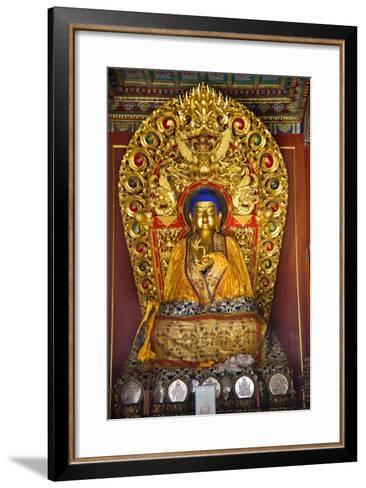 Blue Buddha Hands, Peace Altar Offerings Yonghe Gong Buddhist Lama Temple-William Perry-Framed Art Print