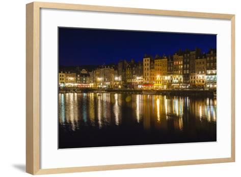 Honfleur Harbor at Night, Normandy, France-Russ Bishop-Framed Art Print