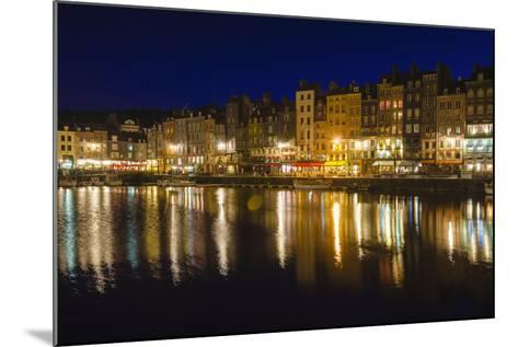 Honfleur Harbor at Night, Normandy, France-Russ Bishop-Mounted Photographic Print