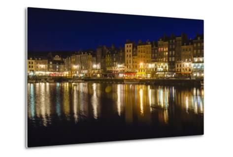 Honfleur Harbor at Night, Normandy, France-Russ Bishop-Metal Print