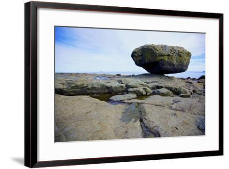 Balance Rock on the East Coast of Graham Island. it Is a Glacial Erratic from the Last Ice Age-Richard Wright-Framed Art Print