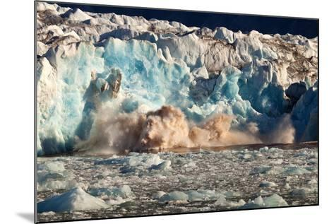 Arctic, Svalbard. 20M High Turquoise Glacier Calving into the Sea-David Slater-Mounted Photographic Print