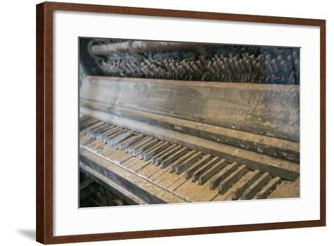 Antique Piano, Ellis Island, New York, New York. Usa-Julien McRoberts-Framed Art Print