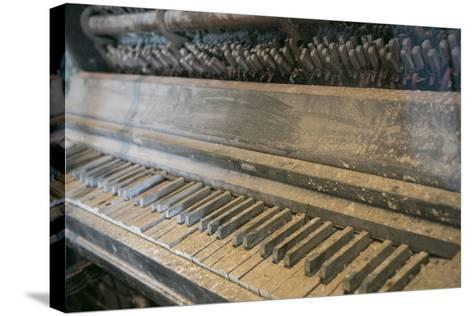 Antique Piano, Ellis Island, New York, New York. Usa-Julien McRoberts-Stretched Canvas Print